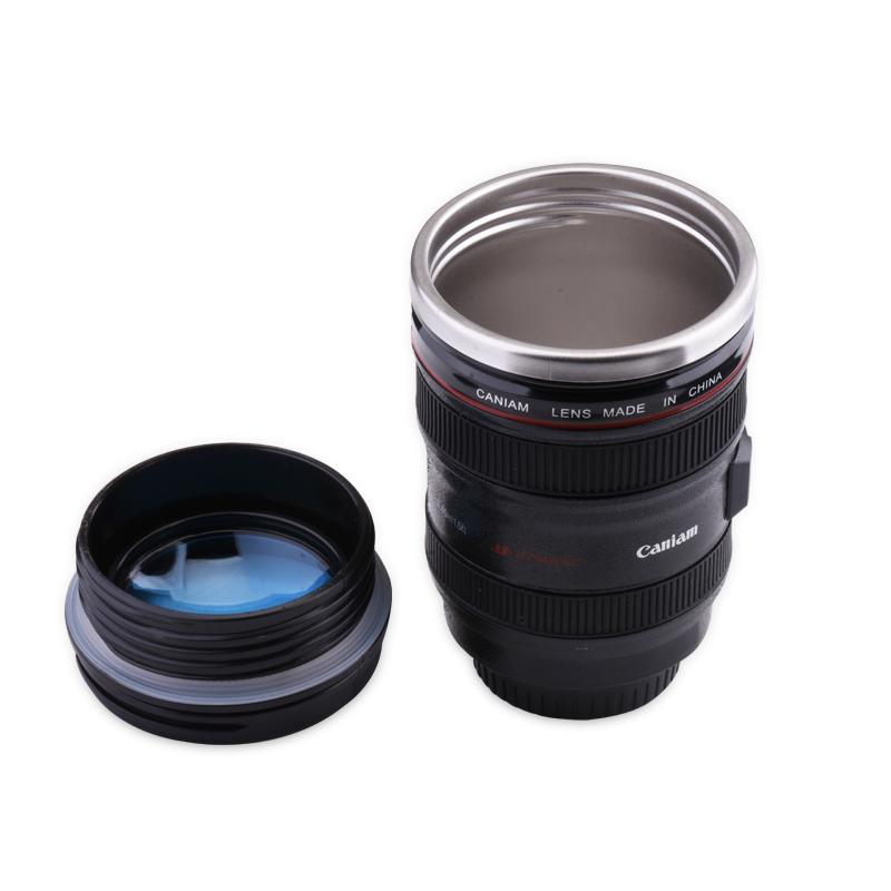 304不锈钢创意镜头水杯咖啡杯果汁杯单反相机镜头杯随手杯学生杯