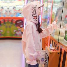 Áo nỉ nữ dài tay mốt mới mùa xuân phong cách Nhật Bản phong cách ngọt ngào phong cách học sinh kiểu dáng dễ thương liền mũ