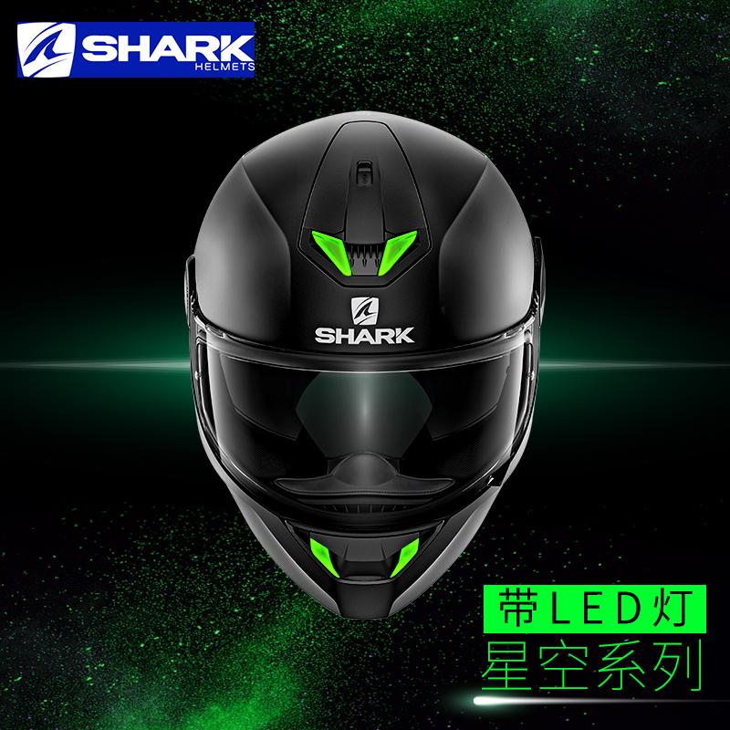 SHARK鲨鱼摩托车头盔男女四季通用机车防雾全盔覆式双镜片夏季
