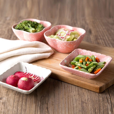 Plum blossom creative household sauce dish tableware ceramics small plate snacks flavor dish of soy sauce dish dish plat