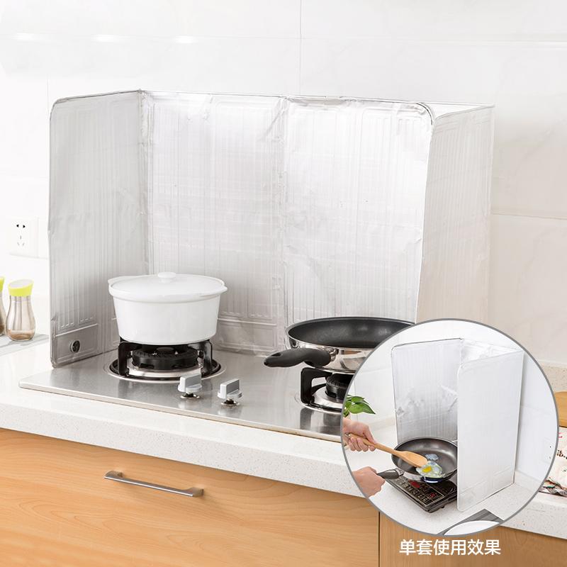Kitchen utensils supplies grease aluminum foil cooking heat splash baffle creative gas stoves oil