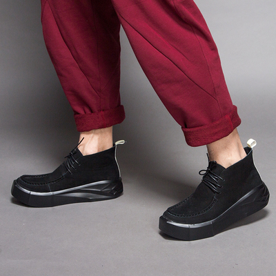 Cloud flawless retro trend sports and leisure personality muffins thick-soled shoes men to help leather head tooling men's shoes