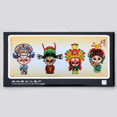 Сувенир с героями Пекинской оперы