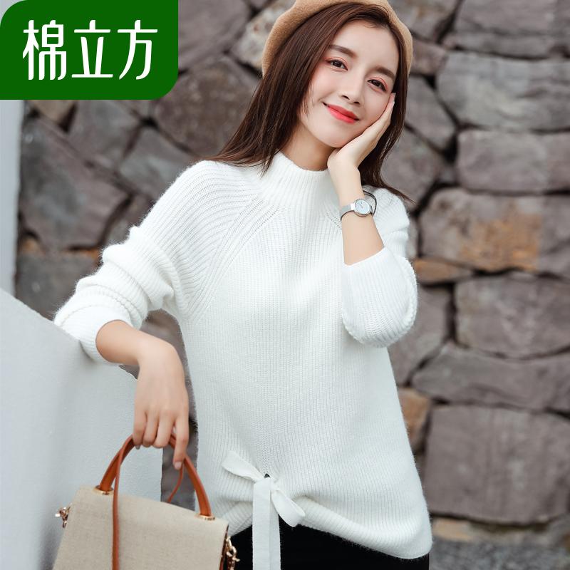 半高领软妹毛衣女秋冬季2018新款棉立方甜美可爱小个子长袖针织衫