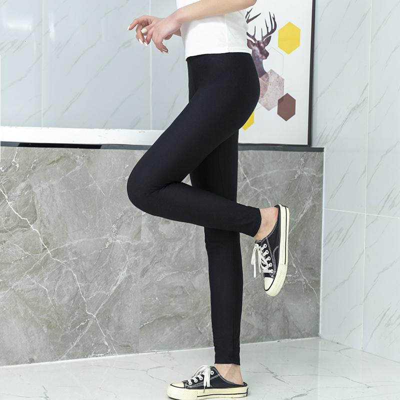 春夏新款冰丝网格纹显瘦修身打底裤,疯狂推荐这款打底裤