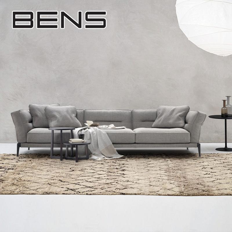 奔斯北欧风格布艺沙发三人位四人客厅组合整装现代简约小户型8853