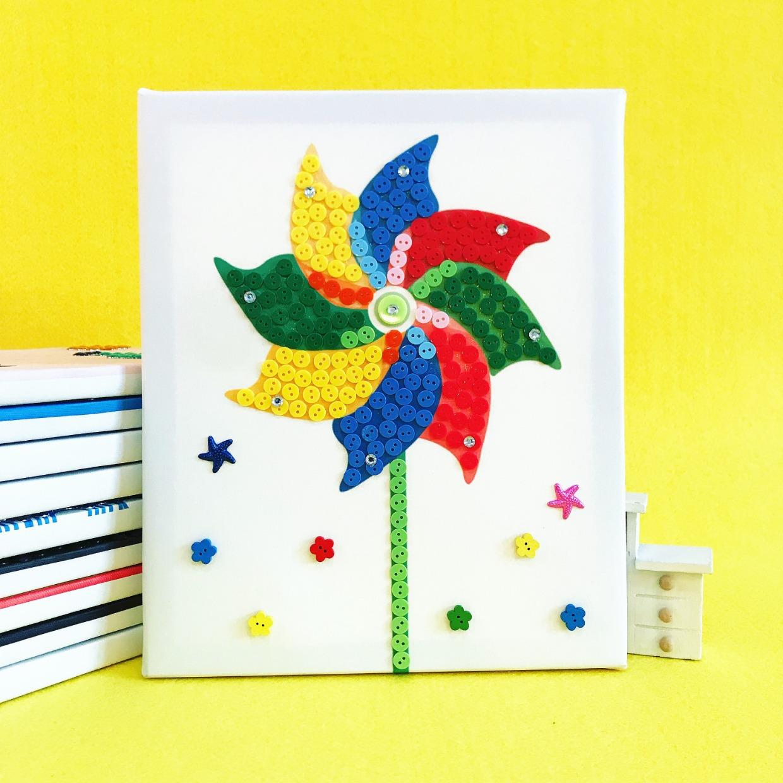 纽扣画diy手工材料包 儿童创意钻石粘贴画幼儿园小班宝宝益智玩具图片
