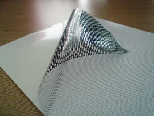 单透贴单孔透广告玻璃贴单面透光户外写真带孔网眼车