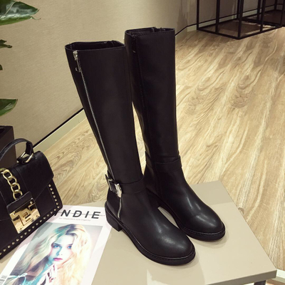 Women's Fashion Boots Knee High Slim Boots Solid Color Ridin...