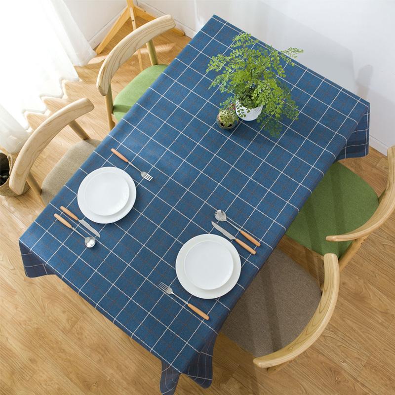 仿棉麻布艺pvc格子桌布防水防油防烫免洗餐桌布茶几台布网红ins风