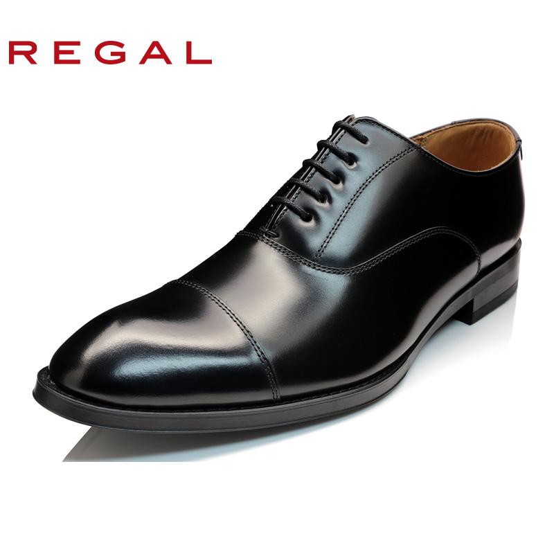 REGAL-丽格商务正装通勤男士低帮鞋皮鞋平跟日本制男鞋811R