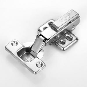 易嘉304不锈钢液压缓冲阻尼衣柜橱柜门铰链五金烟斗飞机加厚合页