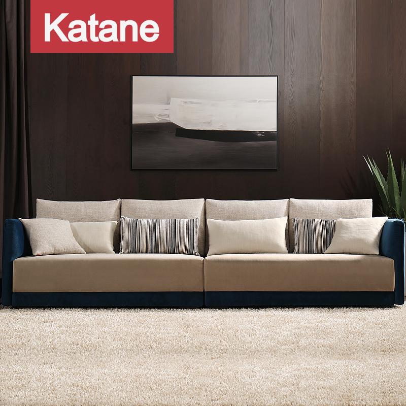 北欧简约沙发小户型 三人客厅可拆洗羽绒布艺沙发组合套装