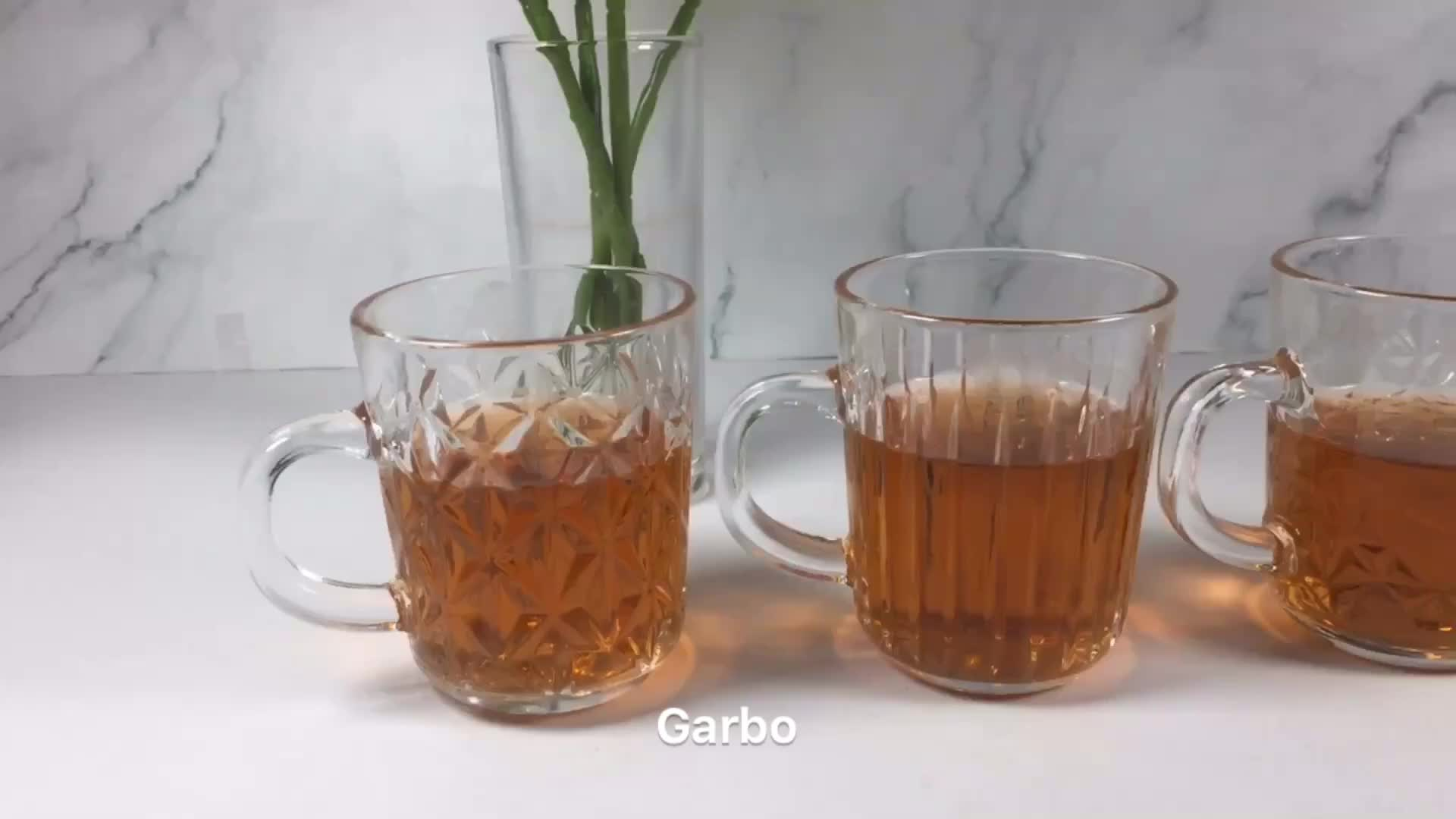 China suppler GARBO clear glass tea cup  glass tea cup set glass mug  glass beer cup stock item