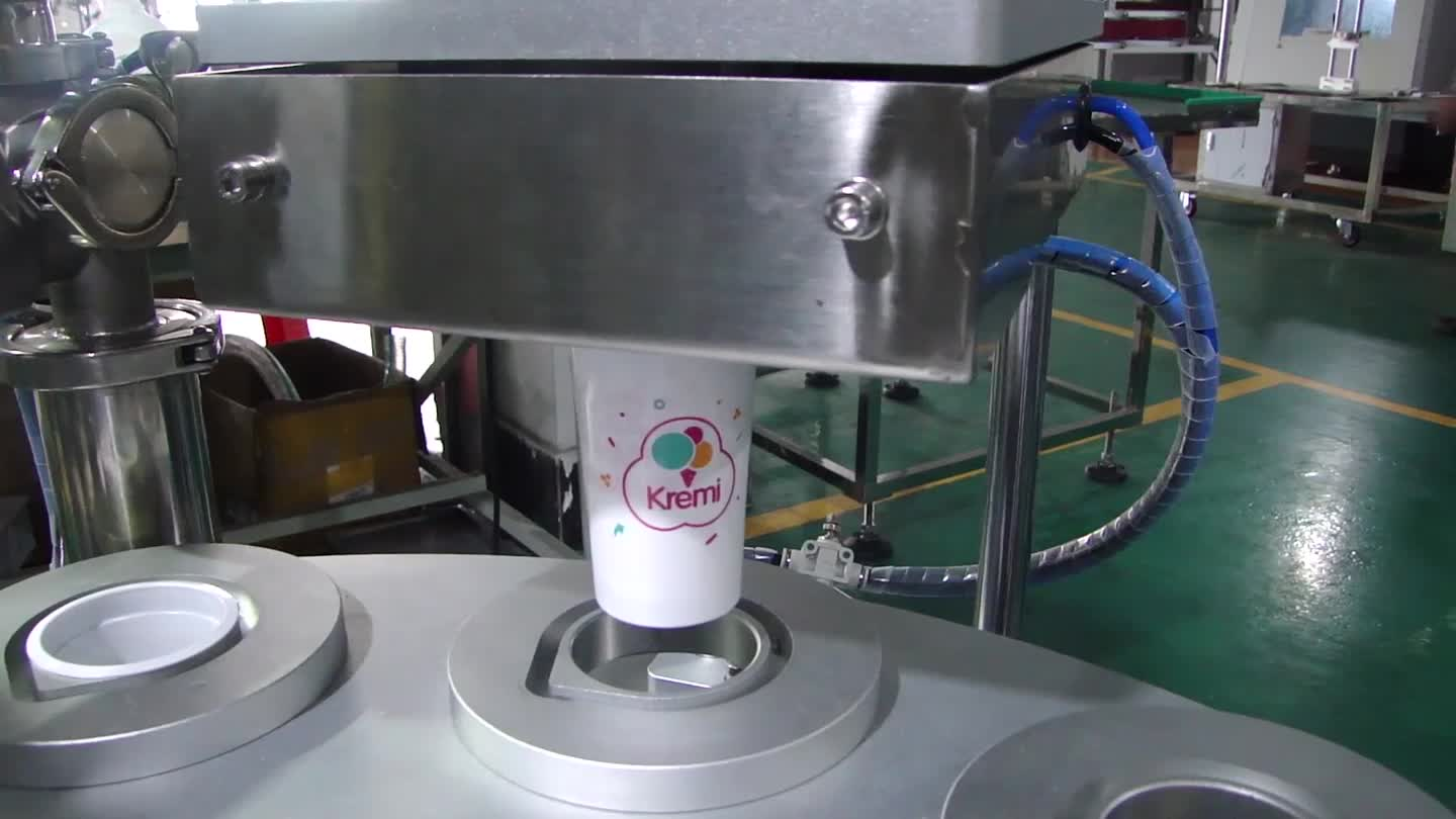 Automatic Cup Filler and Sealer Machine with PLC