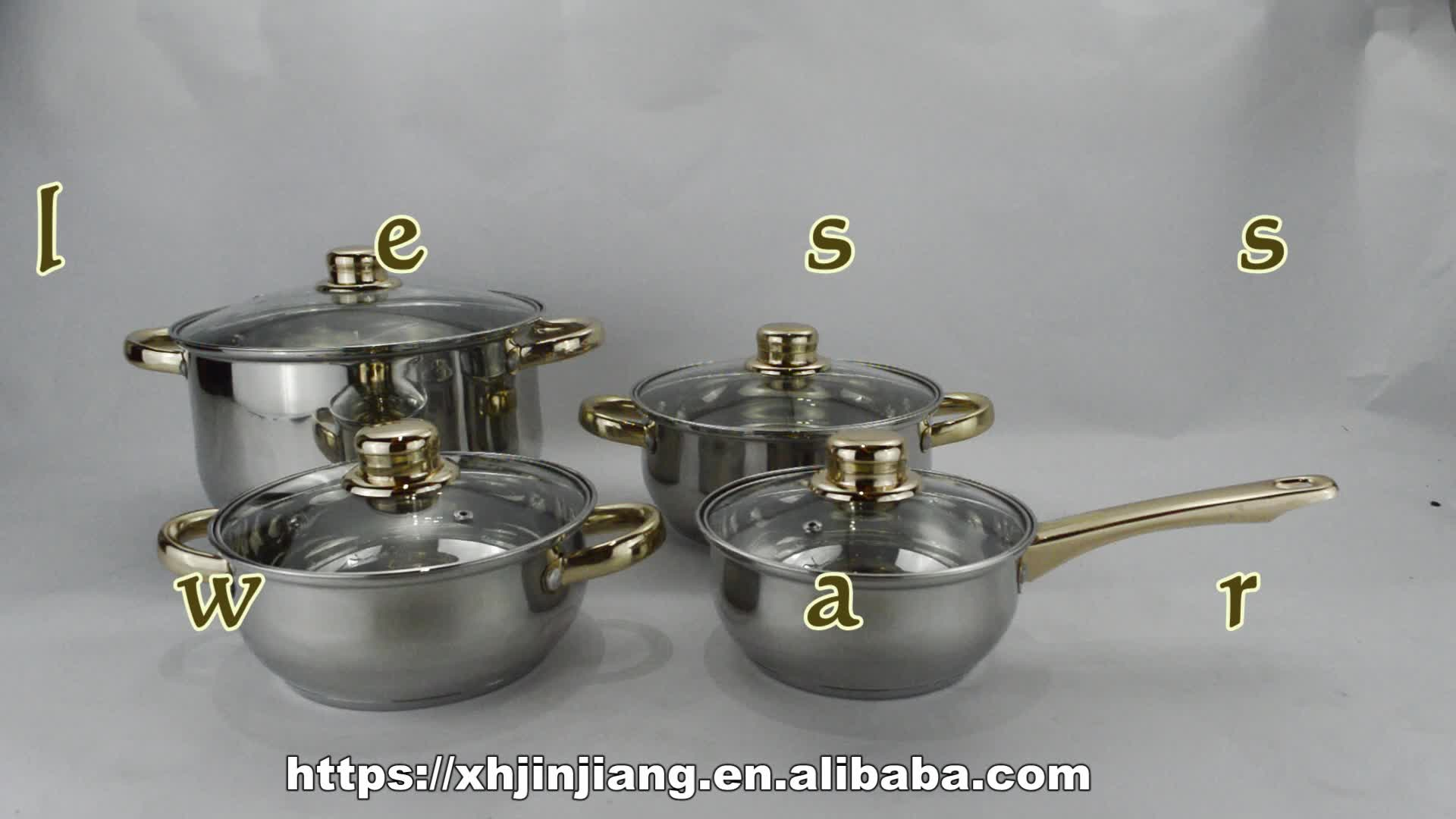 JJs-cw314 8pcs chinese stainless steel cookware set