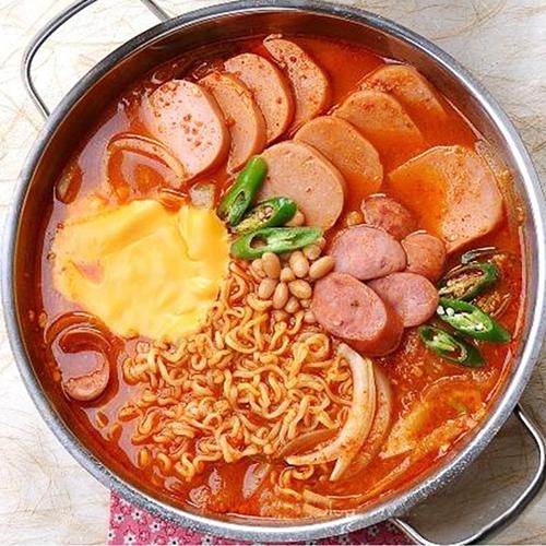 韩国火锅套餐部队火锅料理食材