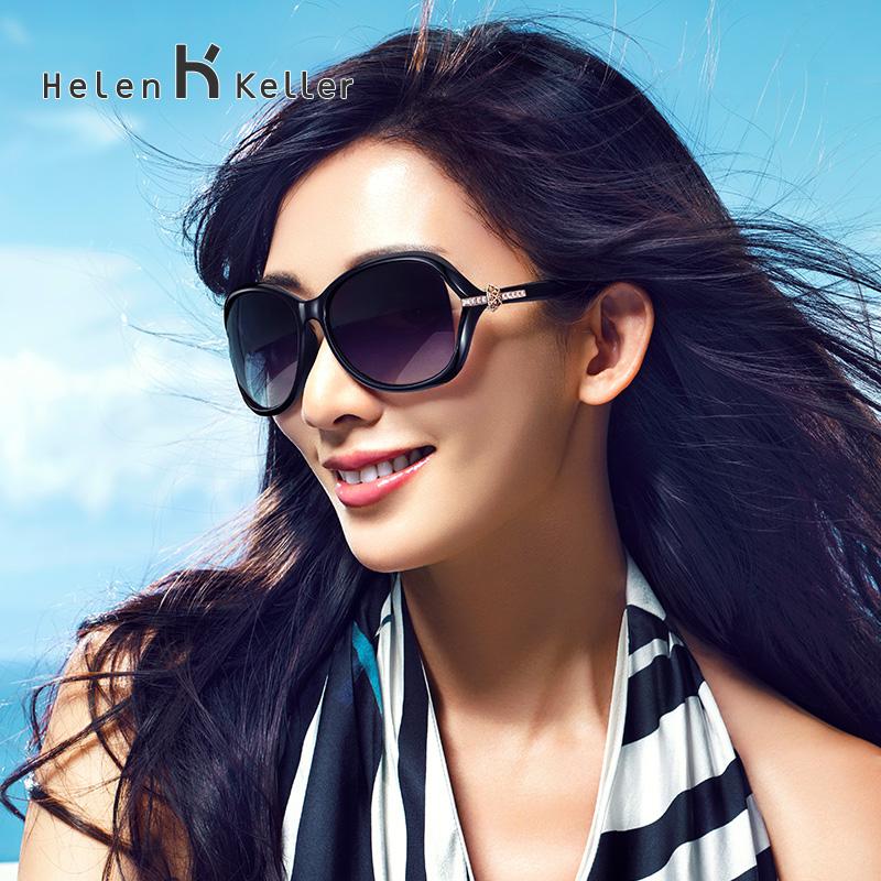 林志玲设计新款海伦凯勒偏光太阳镜女墨镜明星开车镂空大框8312