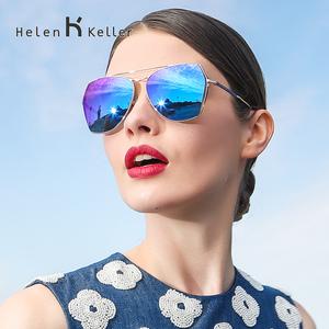 海伦凯勒太阳镜女潮2017明星款 偏光镜墨镜女大框开车眼镜H8618