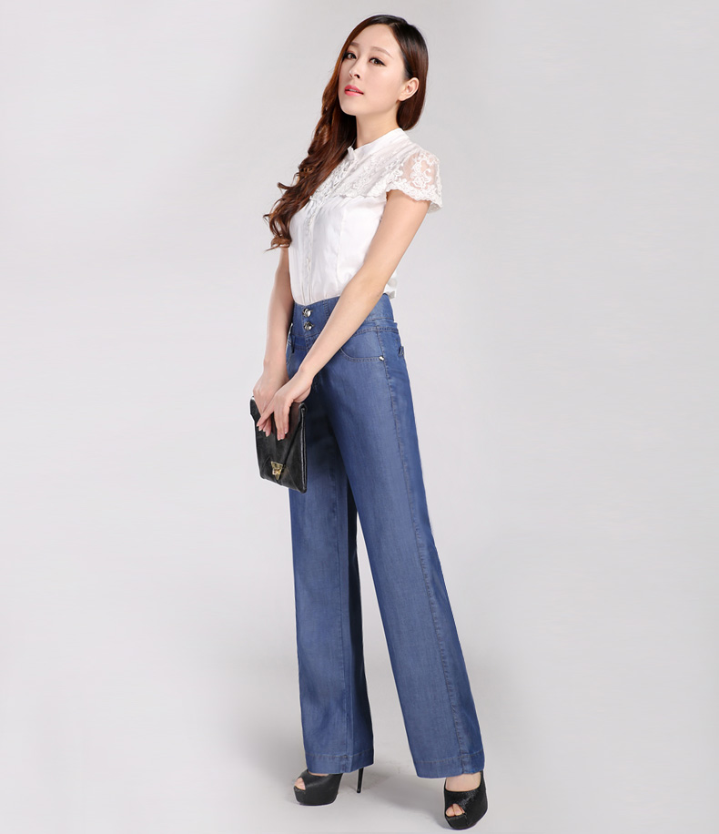 夏装女休闲直筒长裤