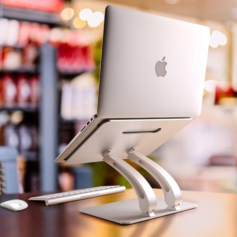 苹果笔记本电脑支架升降颈椎macpro桌面铝合金托架散热器增高底座