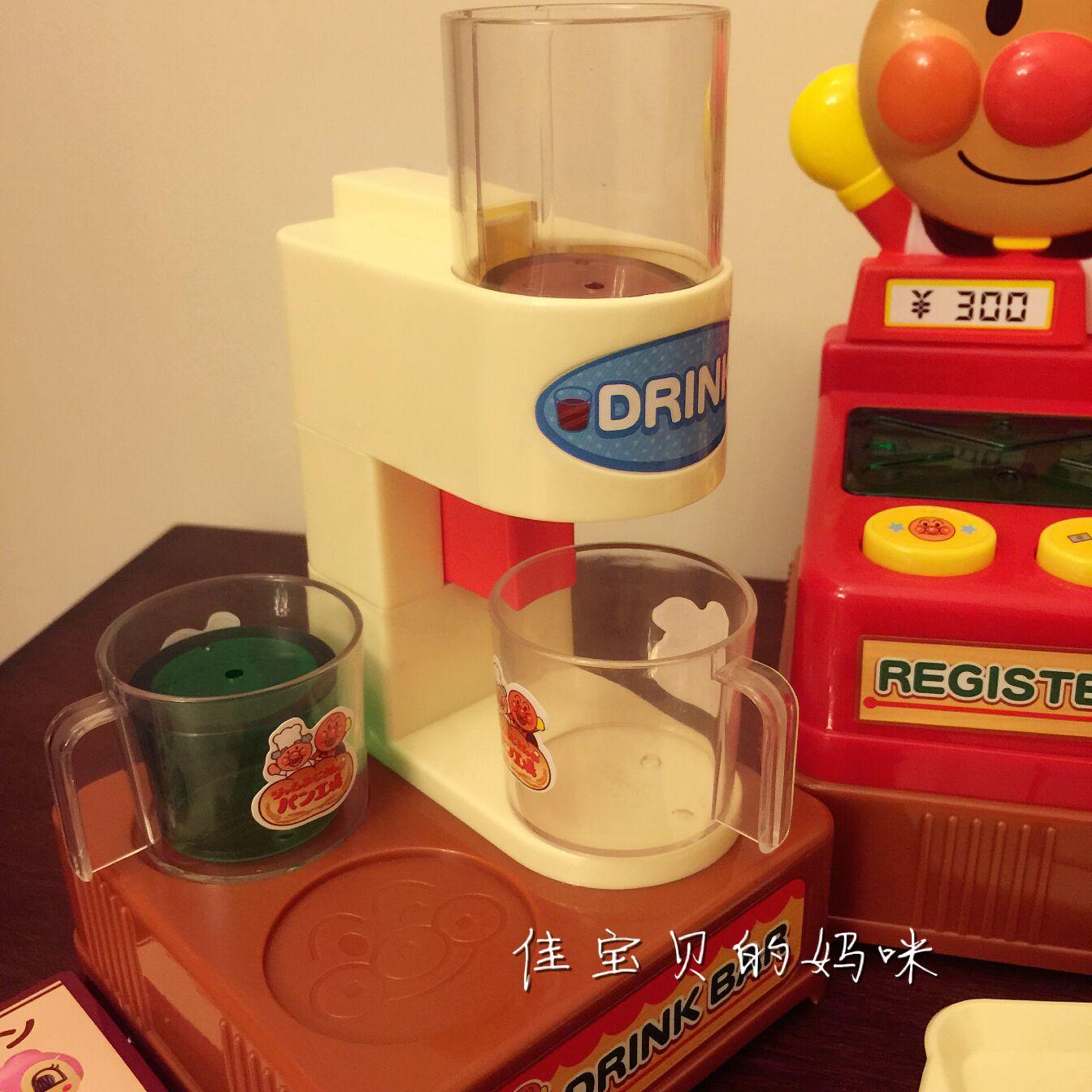 Детский игровой набор 预售包邮 日本进口面包超人面包工坊儿童过家家模拟超市收银机