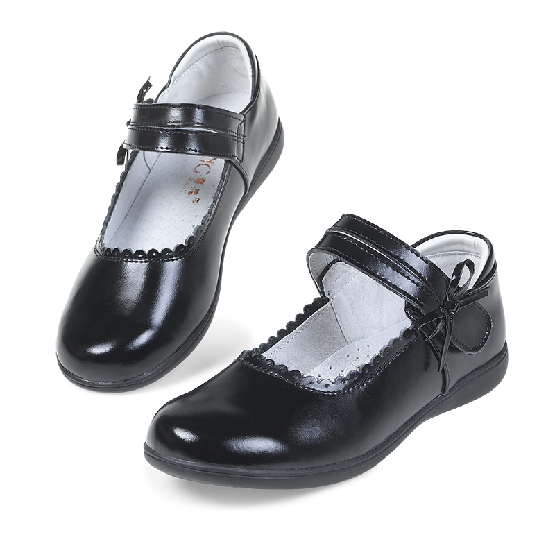 Children's leather shoes Tong Jing 3185