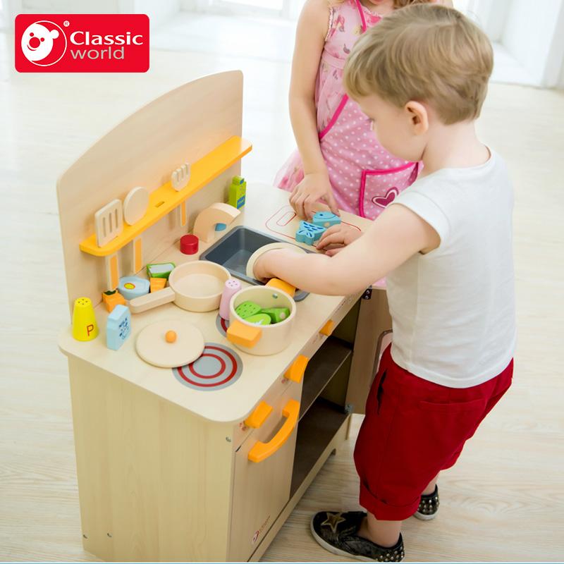 可来赛木制儿童厨房玩具套装过家家女孩做饭工具仿真厨具3-6周岁
