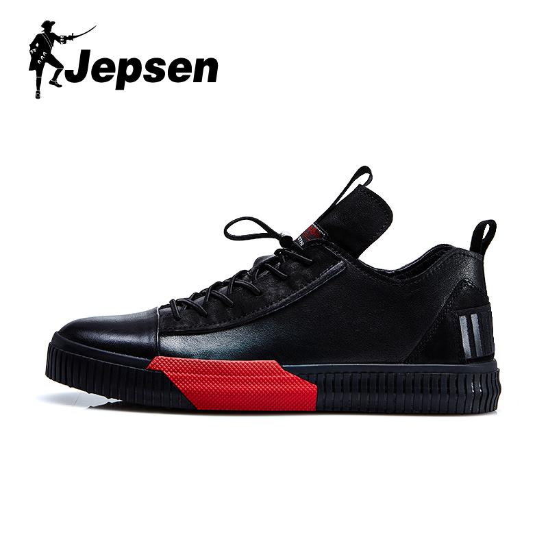 吉普森男鞋2020春季板鞋韩版百搭潮鞋个性休闲鞋时尚真皮鞋子男