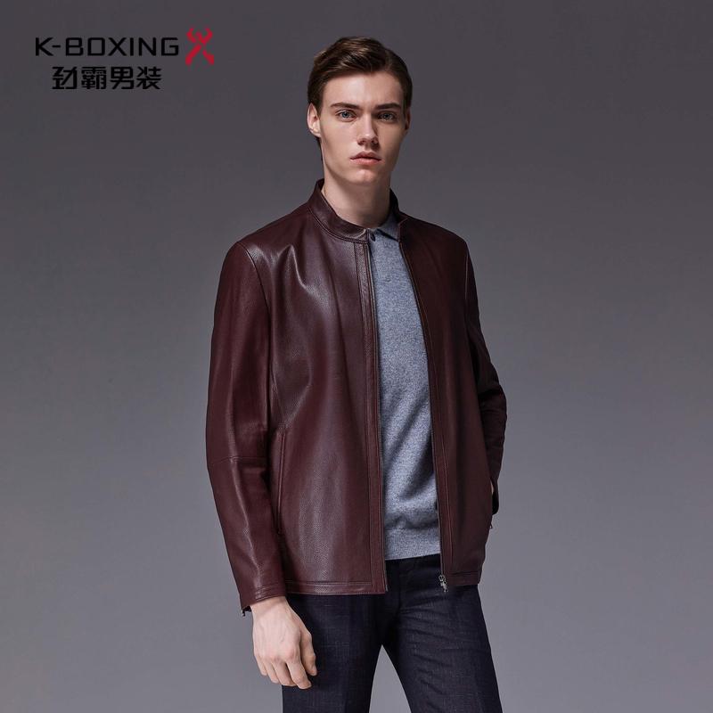 劲霸秋季新款男士外套立领拉链时尚百搭皮装个性|HPLL3543