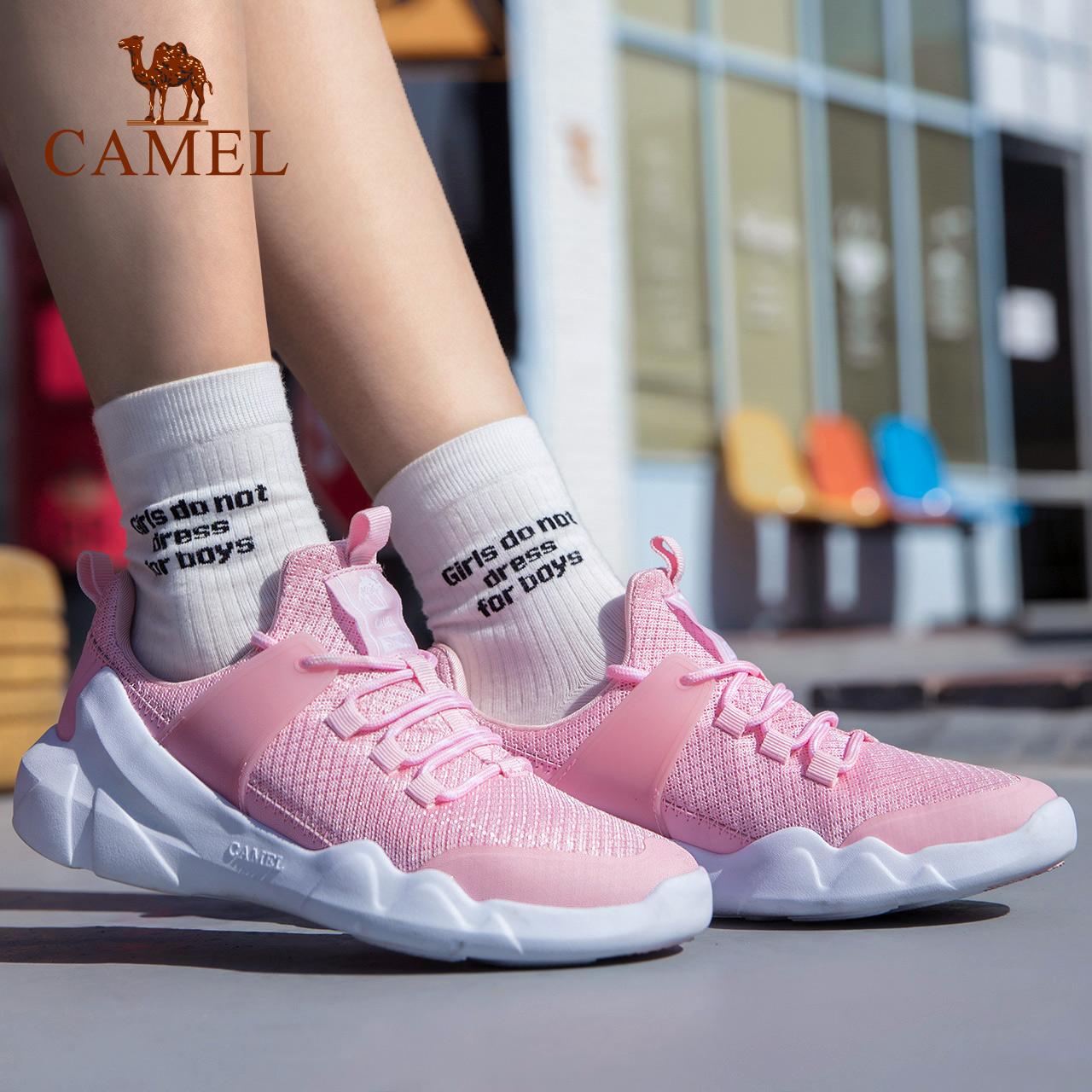 骆驼运动鞋女款 透气排汗舒适减震防滑运动鞋 时尚运动休闲鞋