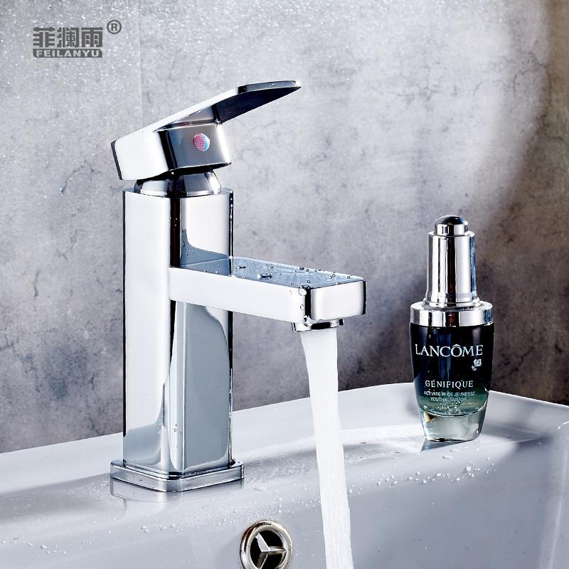 菲澜雨浴室全铜冷热水龙头台上台下盆龙头加高面盆洗手洗脸盆龙头