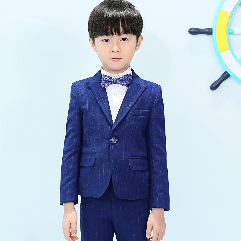 儿童西装套装秋款小花童礼服中大童外套钢琴演出服男童走秀韩版潮
