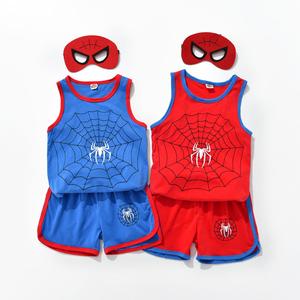男童背心套装2020夏季新款儿童宝宝短裤男孩蜘蛛侠卡通动漫两件套