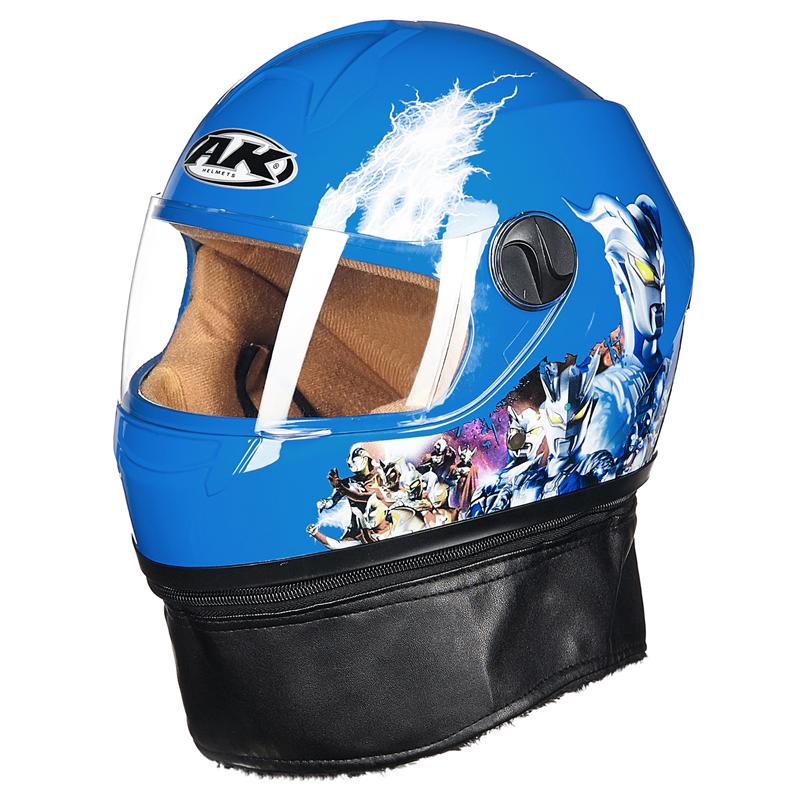 AK艾凯头盔男女保暖电动车防护帽全覆式小孩冬季儿童全盔3-9岁