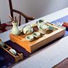 晨茗整套陶瓷汝窑茶具套装家用功夫茶盘茶海茶壶盖碗茶漏茶道杯子