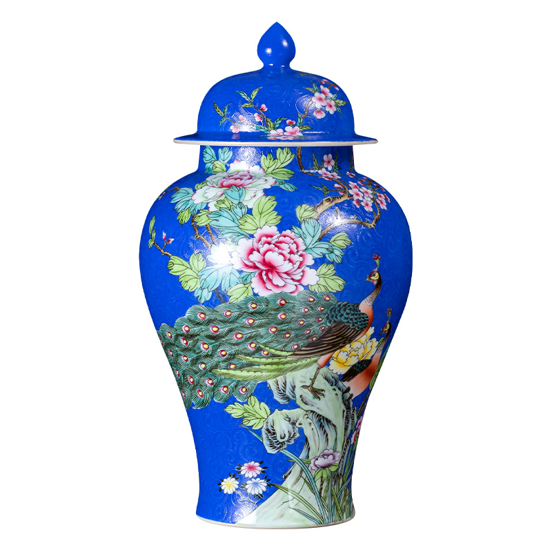 Jingdezhen ceramics hand - made pastel archaize general jar of large storage tank caddy fixings household China wind restoring ancient ways