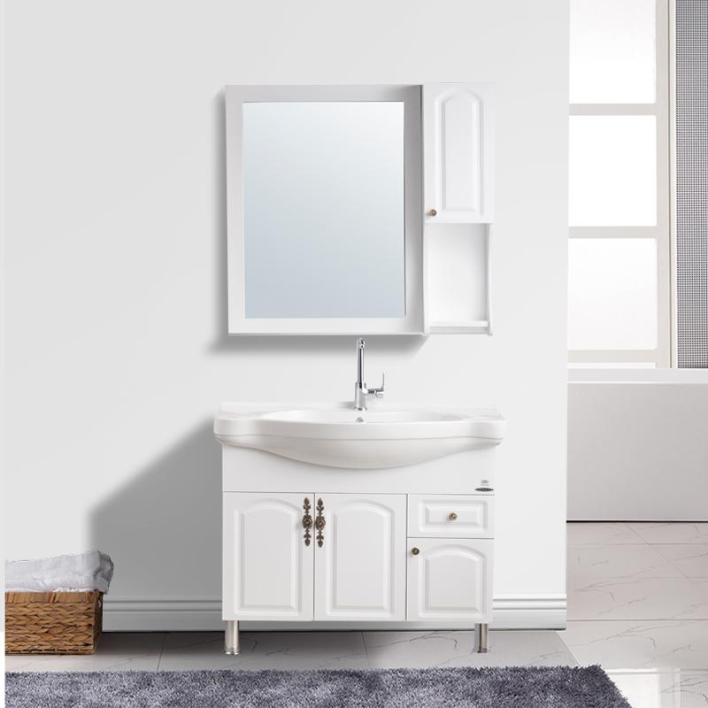 JOMOO九牧 欧式落地浴室柜组合 简欧实木洗脸盆洗漱台面盆柜A1119
