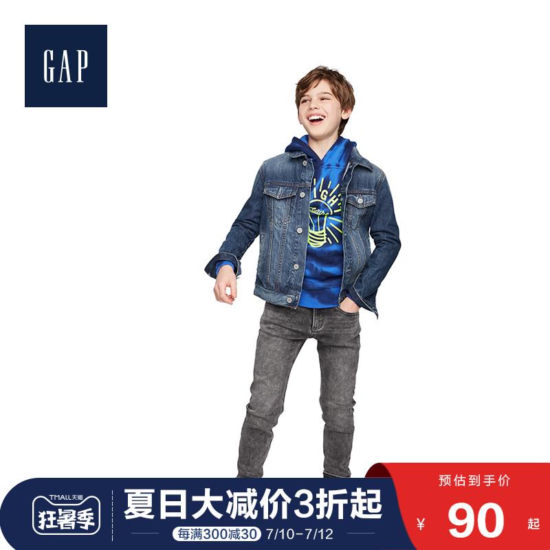 Gap男童保暖连帽衫524861 创意印花儿童潮流上衣卫衣,降价幅度37.7%