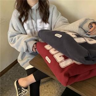 【拍三件】韩版ins加绒加厚卫衣外套