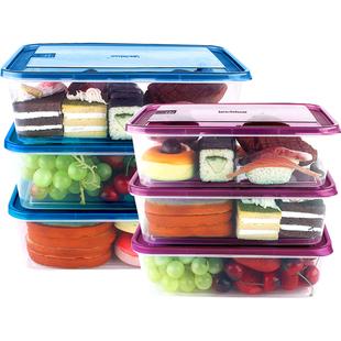 【乐亿多】保鲜盒冰箱用收纳盒6个装