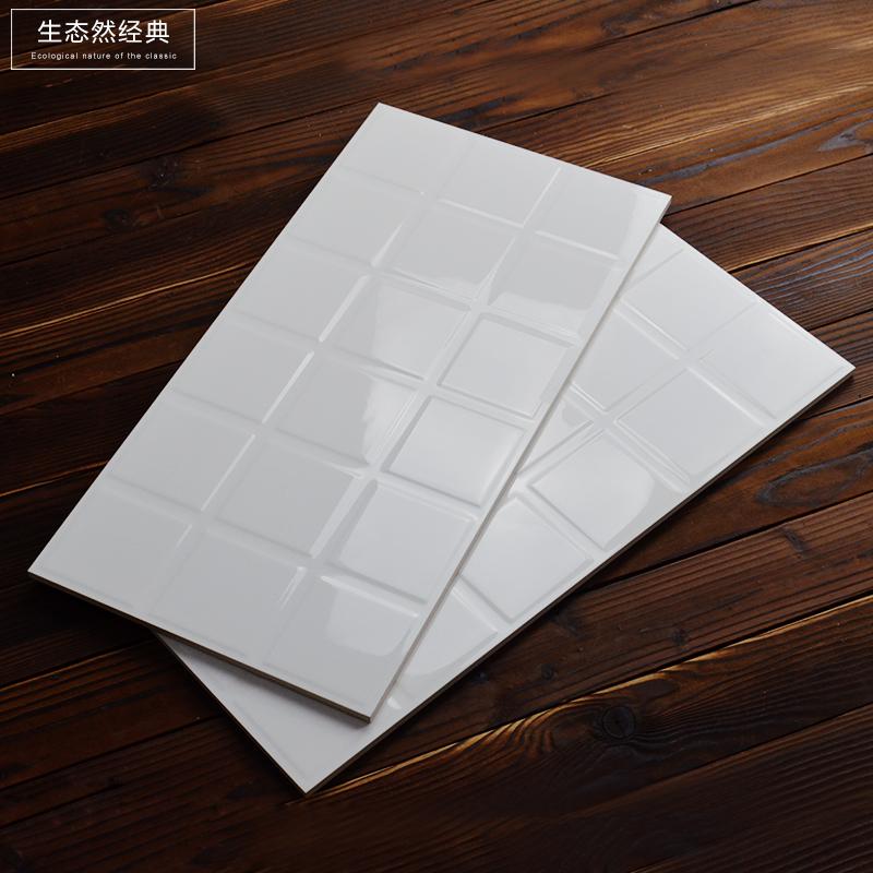 北欧白色方砖 宫格砖 面包砖300*600 宜家厨房间卫生图片