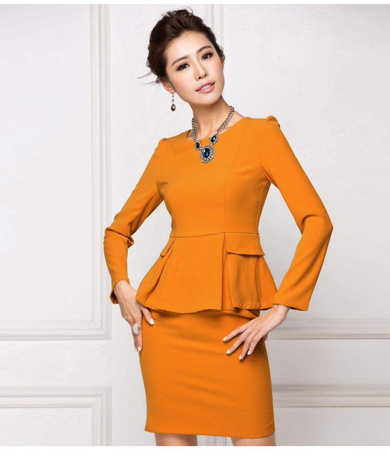 艾尚臣秋ol职业装女装套裙套装西装女大码长袖面试工作服女士正装