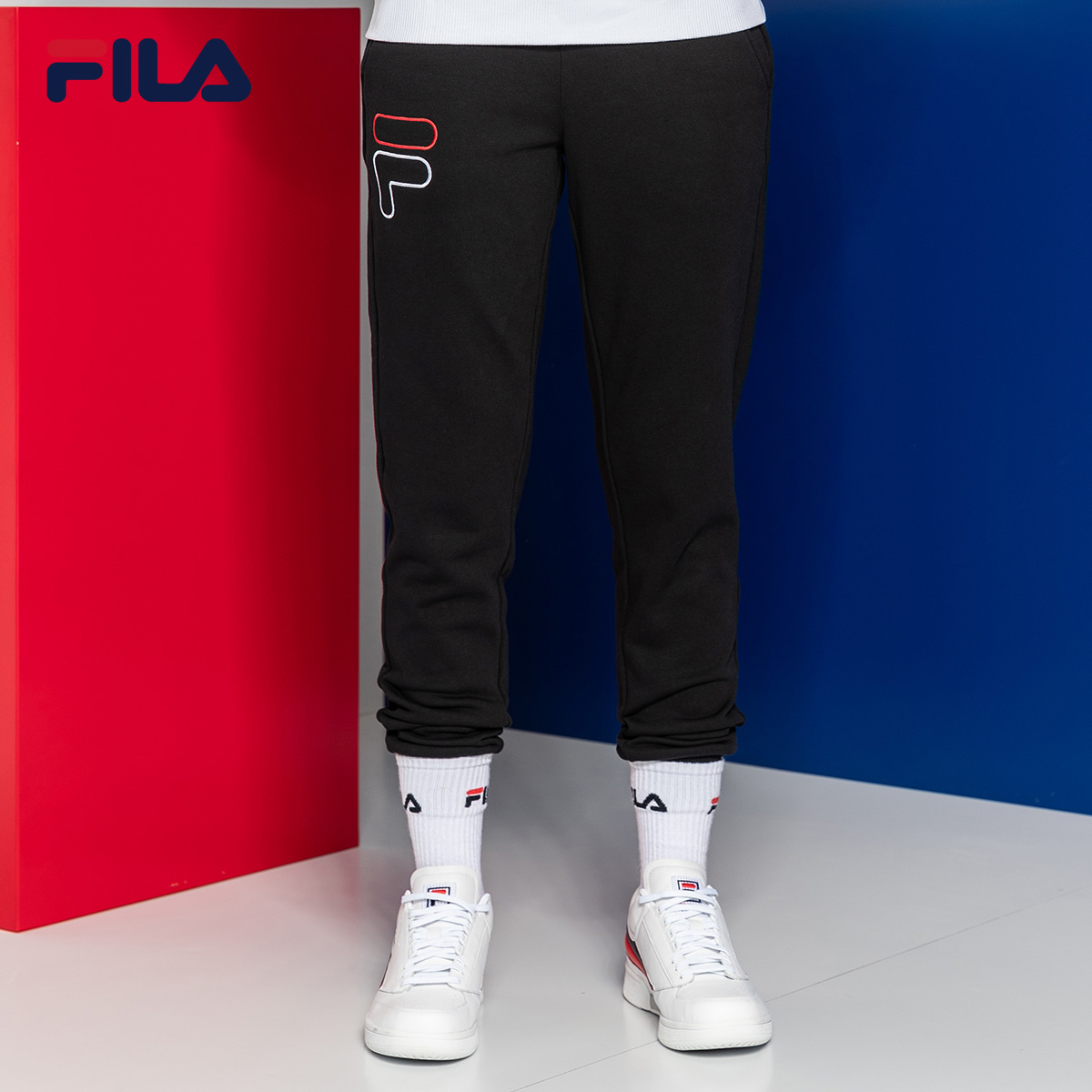FILA斐乐运动裤长裤女2018冬季新品时尚透气休闲裤女潮流舒适长裤