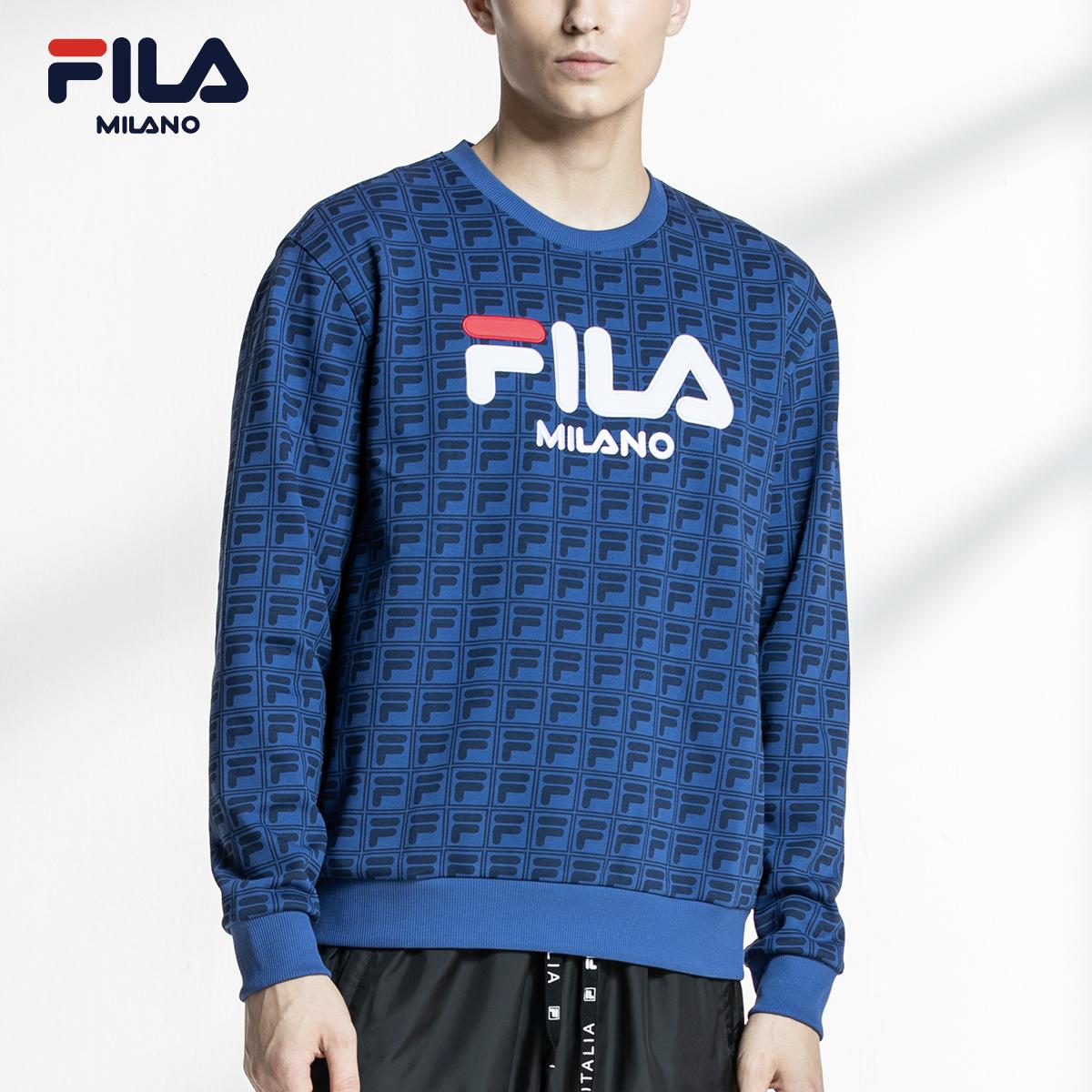 FILA米兰时装周ICONIC系列SNBN限定款 男子针织套头卫衣