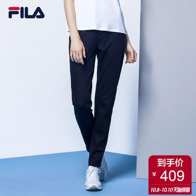 FILA斐乐女针织长裤2018新品吸湿透气运动休闲简约易搭运动长裤女