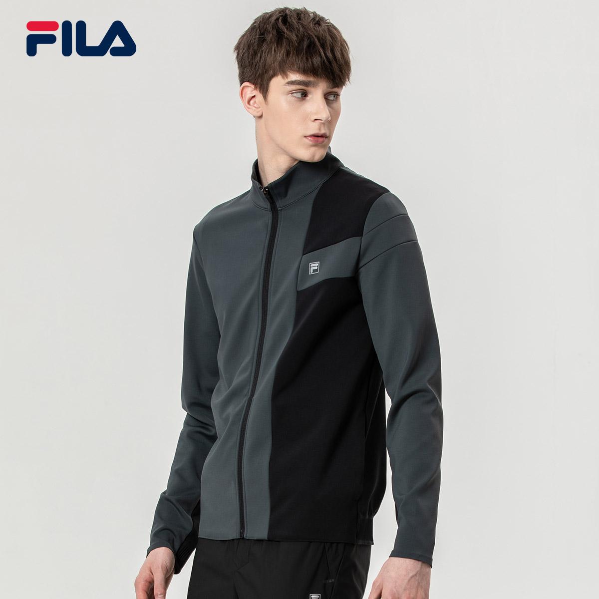FILA斐乐男外套2018秋季新款休闲运动简约时尚外套男上衣