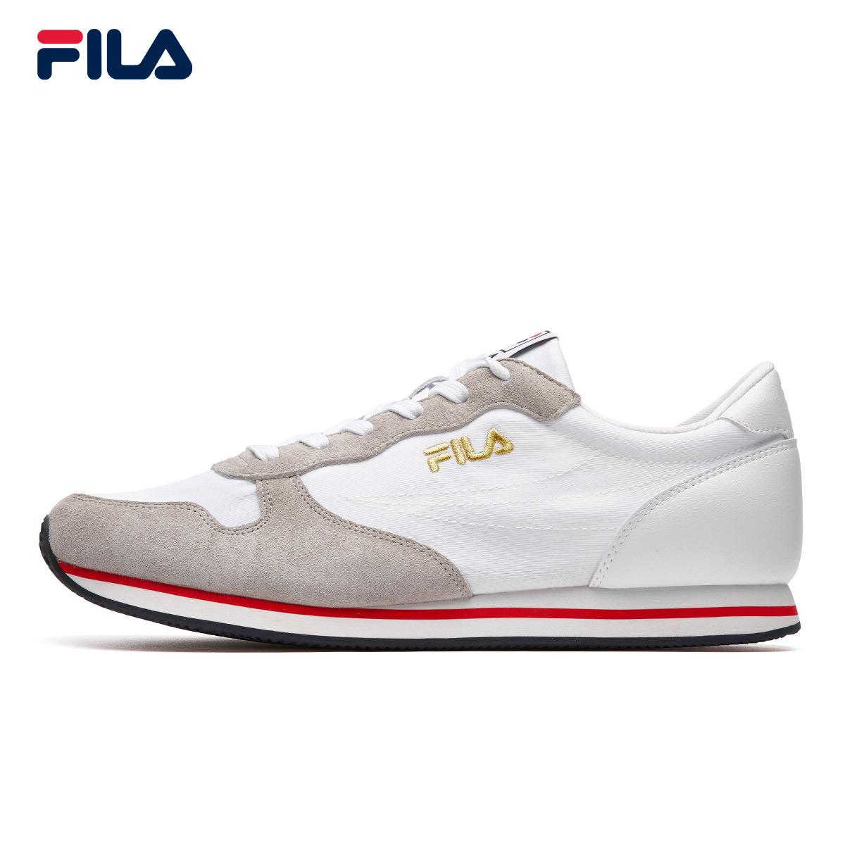 FILA斐乐男鞋跑步鞋2018秋季新品轻质透气运动休闲复古健步跑鞋男