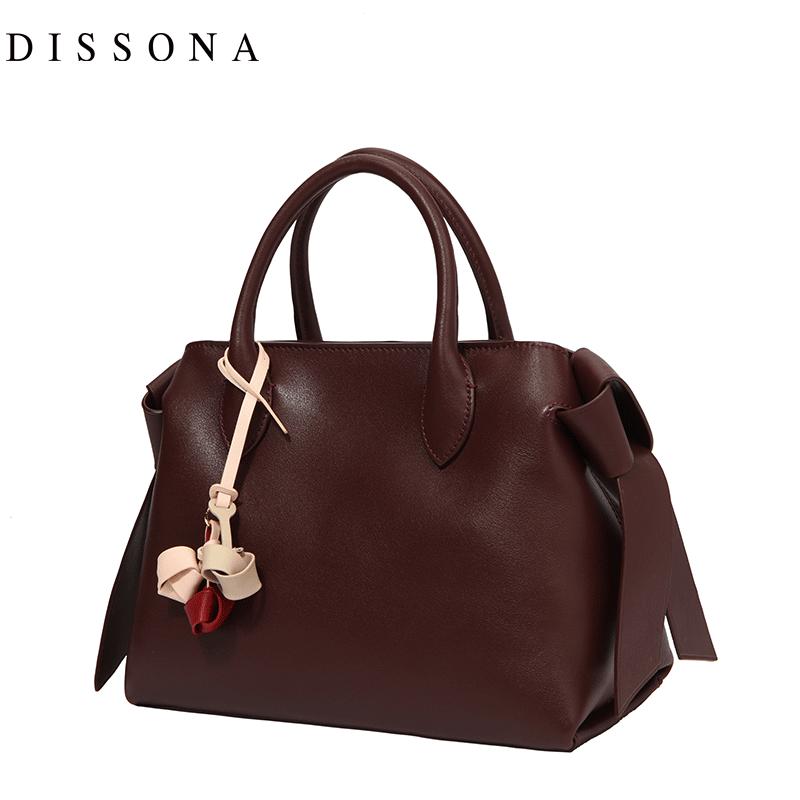 迪桑娜女包手提包时尚新款真皮单肩包大包简约头层牛皮通勤斜挎包