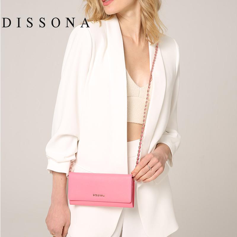 迪桑娜真皮斜挎小包女链条单肩包头层牛皮手拿信封包时尚斜跨包包